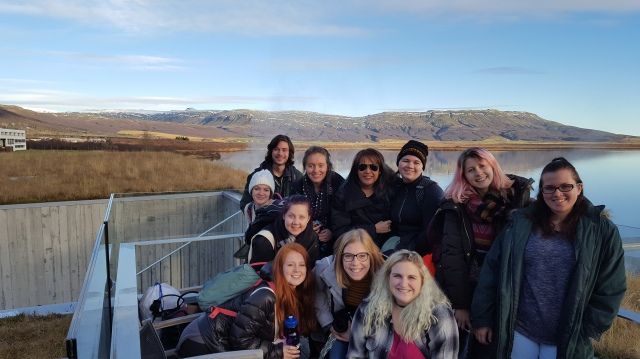 Iceland 2016 class at Laugarvatn Fontana Geothermal Baths (pictured L to R clockwise): Adam Miller, Erin Brown, Althea Legaspi, Erika Smith, Sarah Penn, Francesca Brilli, Mackenzie Crosson, Ellie Wright, Miranda Sherman, Sarah Matthews)